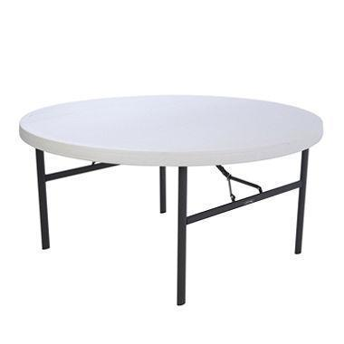 Where to find TABLE 60  ROUND PLASTIC WHITE in Wichita